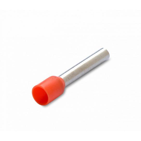 Érvéghüvely 100 db/cs, szigetelt, 0,5 mm2, 8 mm, narancssárga
