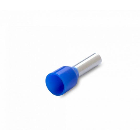 Érvéghüvely 100 db/cs, szigetelt, 2,5 mm2, 8mm, kék
