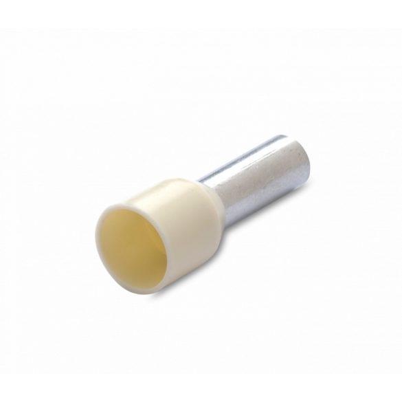 Érvéghüvely 100 db/cs, szigetelt, 10 mm2, 18 mm, tojásszín