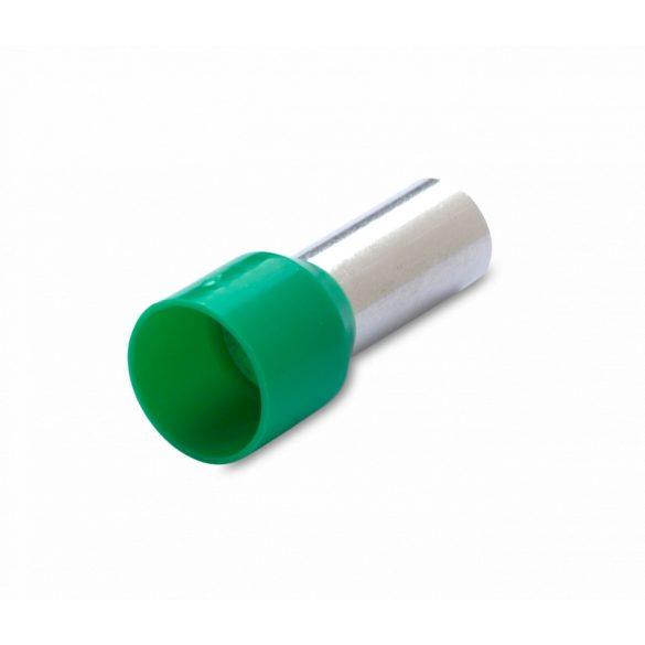 Érvéghüvely 100 db/cs, szigetelt, 16 mm2, 18 mm, zöld