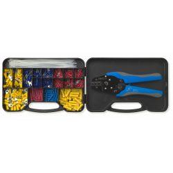 Sarukészlet, szigetelt, 0.25 - 6 mm2, dobozban, automatikus présszerszámmal