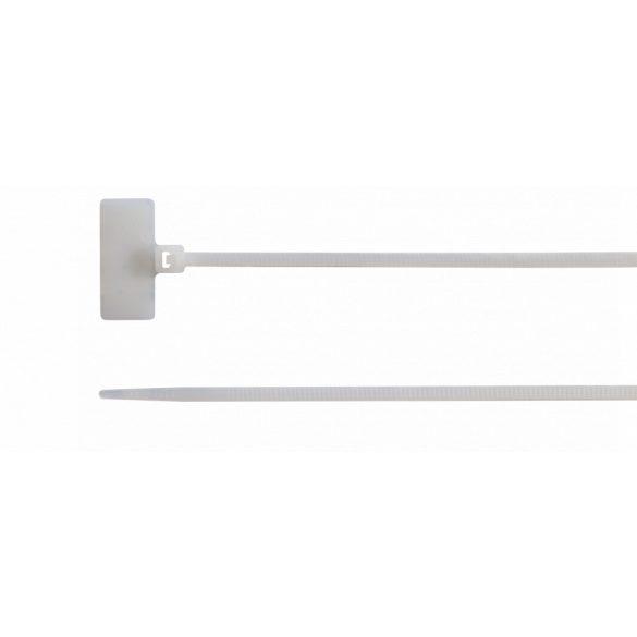 Kábelkötegelő 100 db/cs, 110 mm x 2.5 mm, natúr, feliratozható