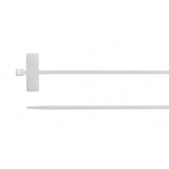 Kábelkötegelő 100 db/cs, 100 mm x 2.5 mm, natúr, feliratozható