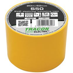 Szigetelőszalag, 50 mm x 20 m, sárga