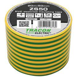 Szigetelőszalag, 50 mm x 20 m, zöld-sárga