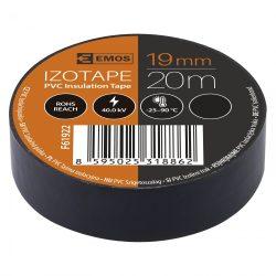 Szigetelőszalag , 19 mm x 20 m, fekete