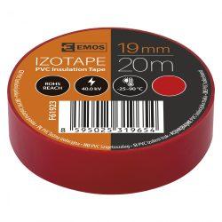 Szigetelőszalag , 19 mm x 20 m, piros