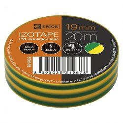 Szigetelőszalag , 19 mm X 20 m, zöld-sárga