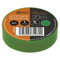 Szigetelőszalag , 19 mm x 20 m, zöld